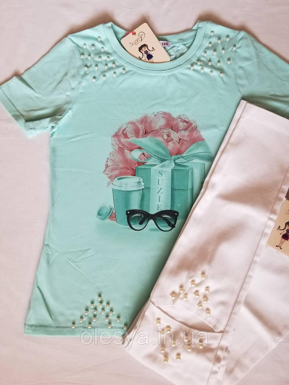 Cтильная футболка для девочки ТМ Suzie Р-ры 116- 152
