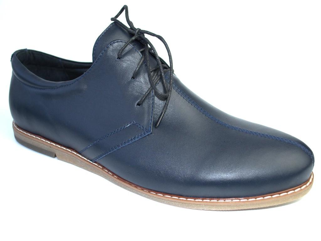 Обувь большой размер мужские кожаные синие туфли Rosso Avangard Cardinal BS Attraente Ocean Deep