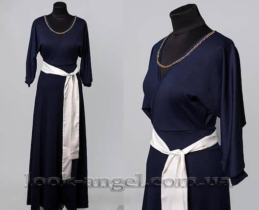 """Элегантное женское платье ткань """"Французский трикотаж"""" пояс в комплекте 44 размер норма, фото 2"""