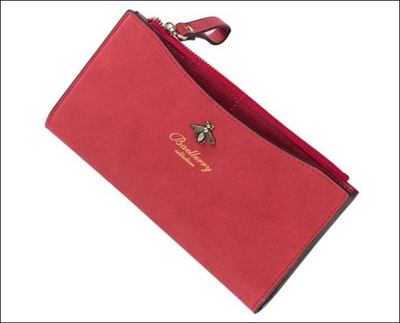 Кошелек портмоне женский замшевый Baellerry Dellape красный