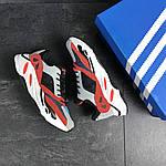 Мужские кроссовки Adidas balance life (серо-красные с белым), фото 2
