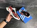 Мужские кроссовки Adidas balance life (серо-красные с белым), фото 3