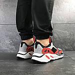 Мужские кроссовки Adidas balance life (серо-красные с белым), фото 4