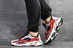 Мужские кроссовки Adidas balance life (серо-красные с белым), фото 5