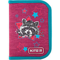 Пенал 1 відділ 1 відворот 621-1 Fluffy racoon Kite, фото 1