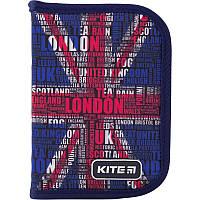 Пенал 1 відділ 1 відворот 621-7 London Kite, фото 1