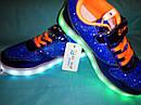Кроссовки подростковые с подсветкой подошвы и кабелем USB Размеры 35 37, фото 5
