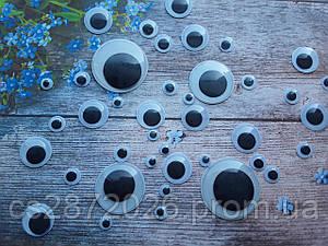 """Глазки для игрушек """"бегающие"""", 20 мм.50 шт"""