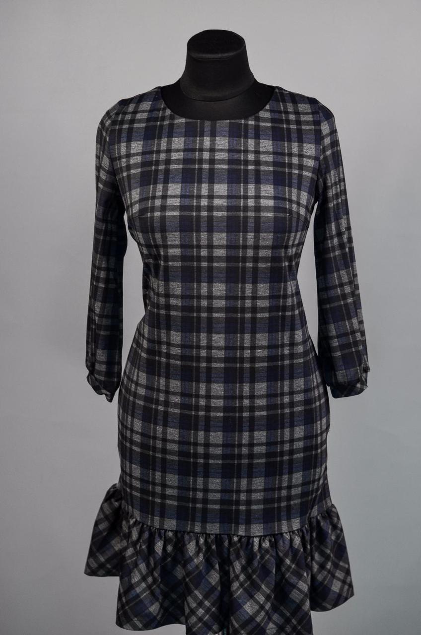 """Шикарное женское платье в """"клетку"""" ткань """"Плотный коттон""""  42 размер норма"""