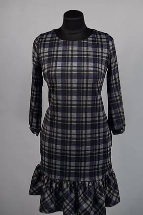 """Шикарное женское платье в """"клетку"""" ткань """"Плотный коттон""""  42 размер норма, фото 2"""