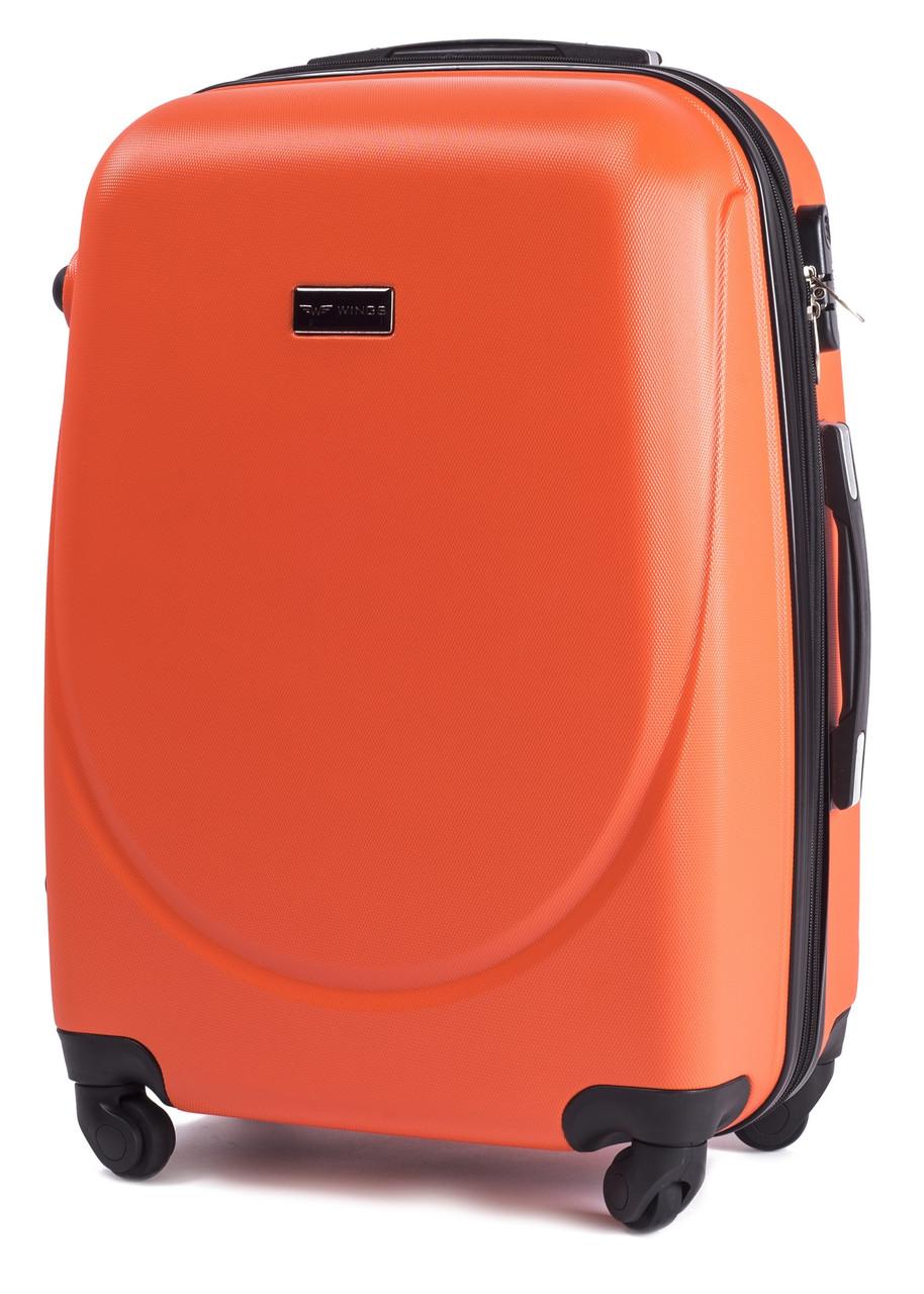 Чемодан дорожный на 4 колесах Wings 912 Средний (М) Оранжевый