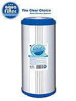 """Картридж комбинированный угольный с KDF и умягчающей загрузкой Big Blue 10"""" AquaFilter FCCBKDF210BB"""