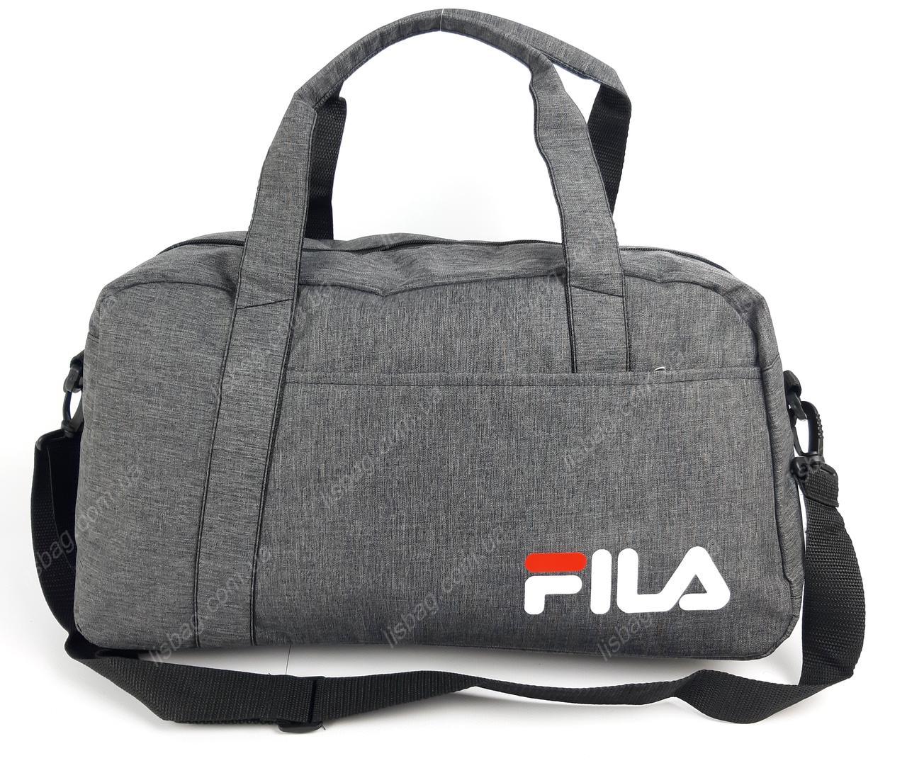 70bf2a7b10e9 Вместительная спортивная сумка Fila реплика люкс качества, Серая ...