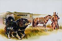Монголія 2002 собаки - блок MNH XF