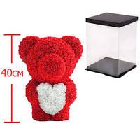 Мишка из роз c сердцем, 40 см KS Bear Flowers KS BS2 Red - 148564
