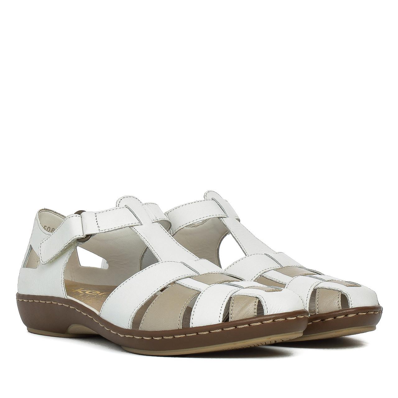 ae6f59da6 Босоножки женские Rieker (белые, качественные, стильные, удобные) - Интернет -магазин