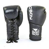 Перчатки боксерские кожаные на шнуровке BAD BOY LEGACY VL-6619-BK