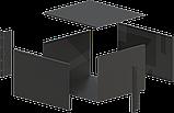 Корпус металевий Rack 6U, модель MB-6370SP (Ш483(432) Г372 В264) чорний, RAL9005(Black textured), фото 3