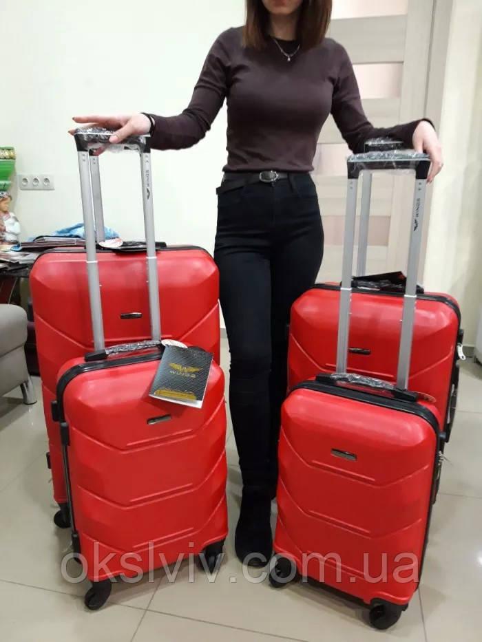 Валізи чемоданы сумки на колесах WINGS 147-4 Польща
