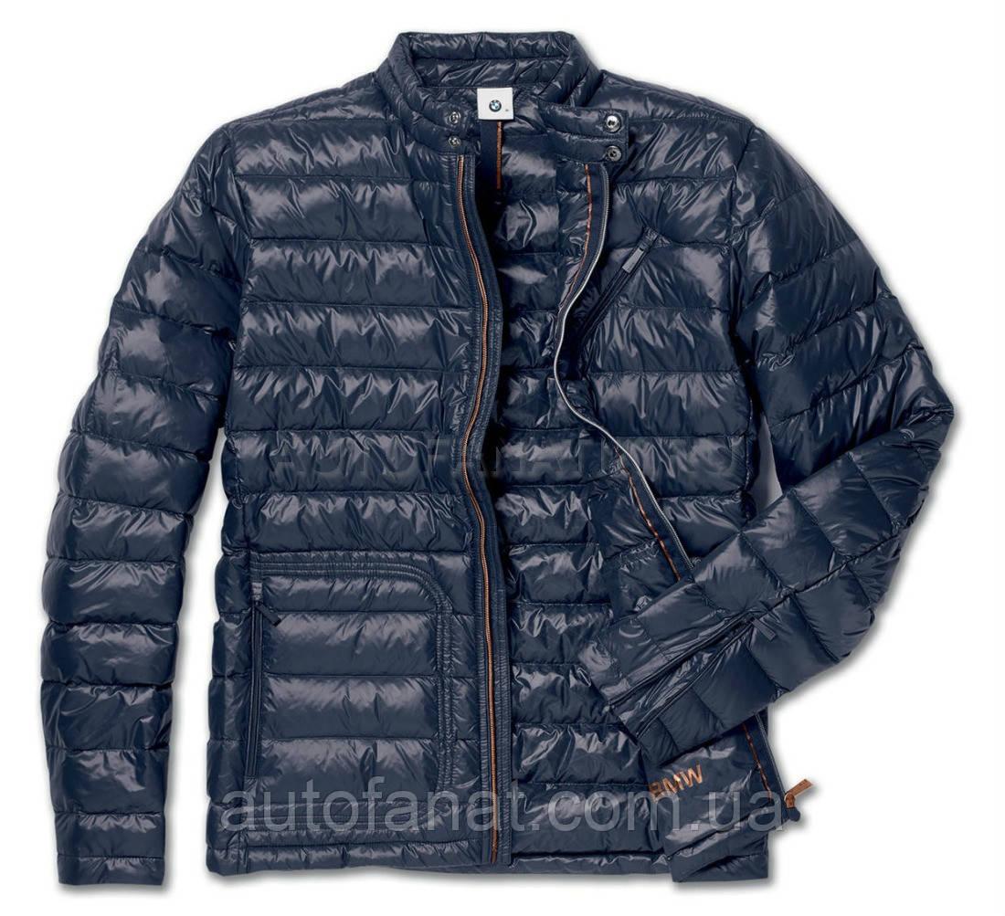 Оригинальнаямужская пуховая куртка BMW Soft Down Jacket, Men, Dark Blue (80142454604)