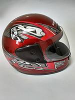 Шлем для скутера Kurosawa, красный, размер S(55-56)