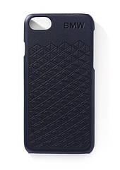 Оригинальный кожаный чехол BMW Design для iPhone 7/8, Blue (80212454645)