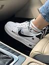 Кроссовки Nike Air FORCE 1 low White женские и мужские, фото 3