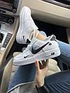 Кроссовки Nike Air FORCE 1 low White женские и мужские, фото 5
