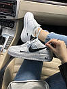 Кроссовки Nike Air FORCE 1 low White женские и мужские, фото 6