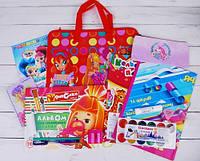 Подарочный набор школьнику для девочки (папка Винкс)