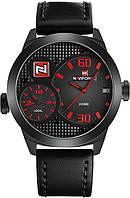 Мужские Мощные Часы Naviforce BRB-NF9092 с Двумя Рабочими Циферблатами