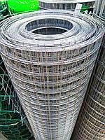 Металлическая сетка сварная 25х25 мм ячейка / 1х25 м рулон Ø 1 мм  сечение проволоки