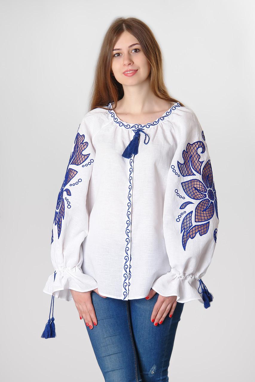 Блуза жіноча Диво-квітка , червоний колір