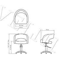 Парикмахерское кресло VM804, фото 3