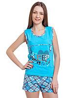 Женская котоновая пижама (р-ры 44-48) оптом со склада в Одессе.