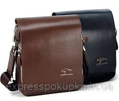 Мужская сумка барсетка Kangaroo Kingdom Черная и Коричневая