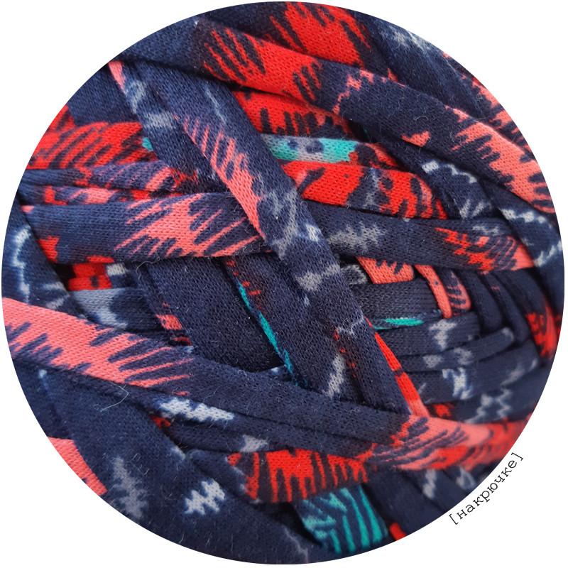 Пряжа трикотажная Belka, цвет Цветы (100-110 м), 7-9 мм
