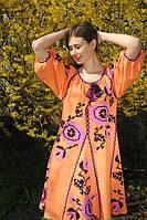 Вишиті сукні з льону.