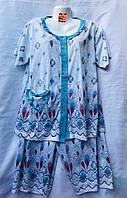 Женская котоновая пижама (р-ры 46-54) оптом со склада в Одессе.