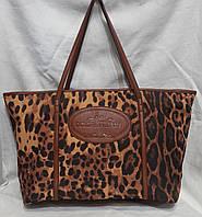 Стильная леопардовая  сумка из ткани. Женская сумка., фото 1