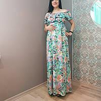 Платье для беременных длинное штапельное