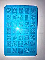 Пластина для стемпинга (пластиковая) XDE11, фото 1