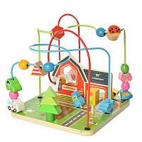 Деревянная игрушка Лабиринт MD 2053  на проволоке, в кор-ке, 23-22-22, 5см , фото 1