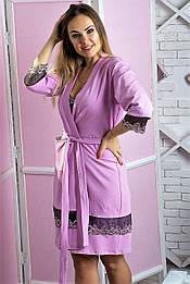 Халат MiaNaGreen Х112н Розовый