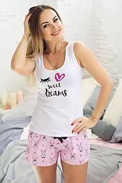 Комплект майка + шорты П005 Зайцы