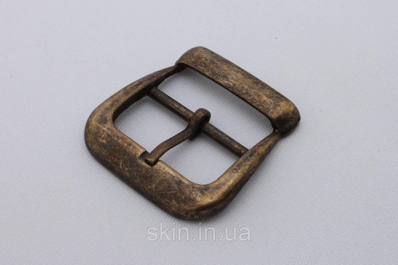 Пряжка сумочная, ширина - 30 мм, цвет - антик, артикул СК 5336