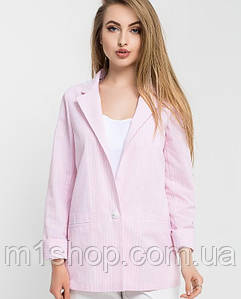 Женский хлопковый пиджак в полоску (Никольleo)