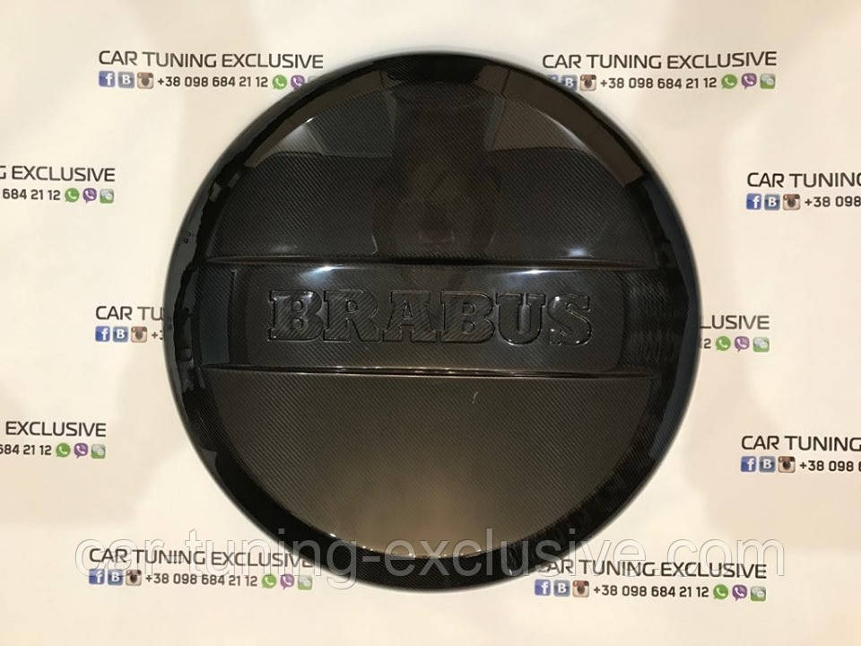 Spare wheel cover carbon for Mercedes G-class
