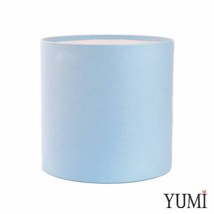 Шляпная коробка 16х16 см голубая без крышки, фото 2