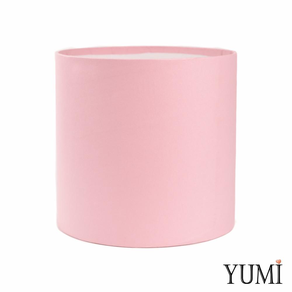 Шляпная коробка 20х20 см нежно-розовая без крышки